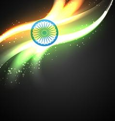 Shiny indian flag design vector