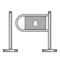 Shop entrance gate icon gray monochrome style vector image