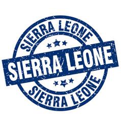 Sierra leone blue round grunge stamp vector