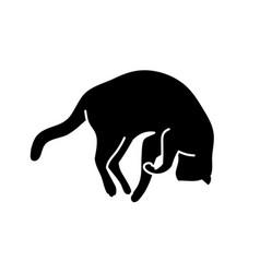 Sleeping cat silhouette vector