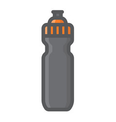 sports water bottle filled outline icon fitness vector image