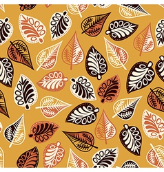 Summer seamless leaf pattern vector