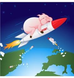 Swine flu hen vector