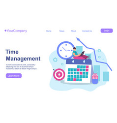 Timing and project scheduling managers working vector