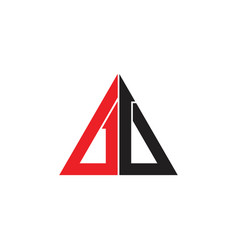 Triangle arrows up geometric line colorful logo vector