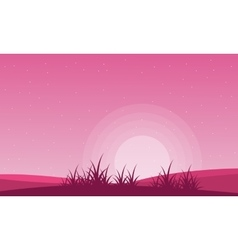 Valentine theme field with pink backgrounds vector