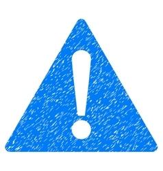 Warning Grainy Texture Icon vector
