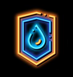 Waterproof material guard neon glow icon vector