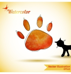 with next cat vector image