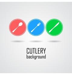 Cutlery symbols vector image