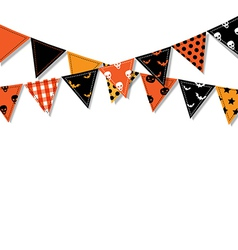 Halloween Bunting Flags vector image