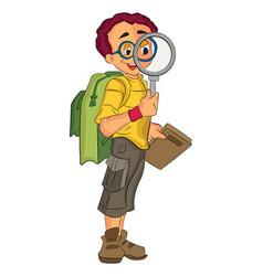 male explorer vector image vector image