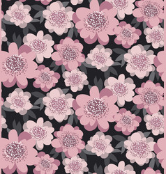 pale pink color stylized floral seamless pattern vector image vector image