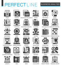 business analytics classic black mini vector image vector image