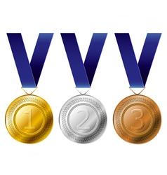 Medal award set vector