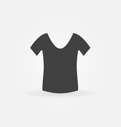 womens t-shirt icon vector image