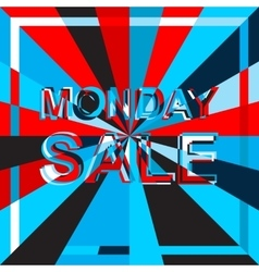 Big ice sale poster with monday sale text vector