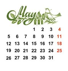 Calendar may 2014 vector