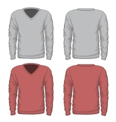 Casual mens v-neck sweatshirt vector image