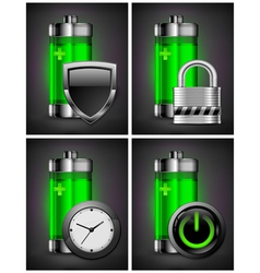 charge energy battery power vector image