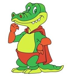 Crocodile in the raincoat vector image