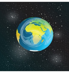 earth in space vector image vector image