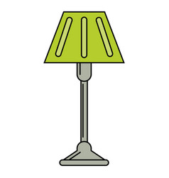 floor lamp decoration icon vector image