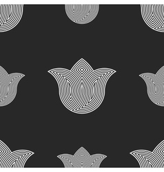 Flowers tulips seamless pattern hipster simple vector image