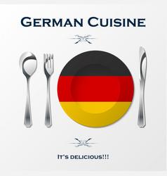 german cuisine cutlery vector image