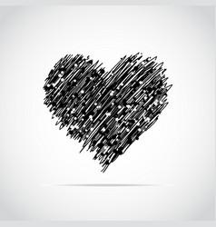 Hand drawn heart vector
