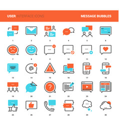 message bubbles icons vector image vector image