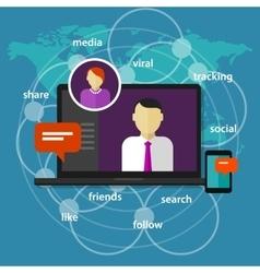 social media manager management administrator vector image vector image