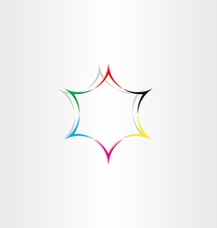 star icon colorful background abstract element vector image vector image