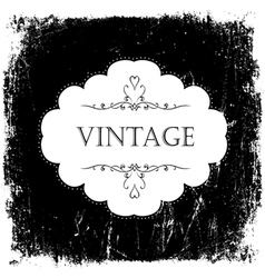 Vintage black and white card template vector