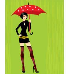 with umbrella vector image vector image