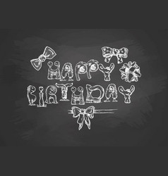 birthday typography template vector image vector image