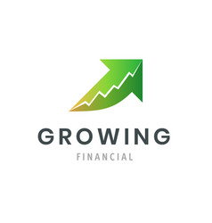 growing financial success business logo modern vector image vector image