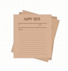 happy notes retro vector image