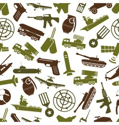 military theme colors icons seamless pattern eps10 vector image vector image