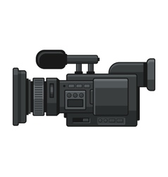 Professional Digital Video Camera Recorder Icon vector image vector image