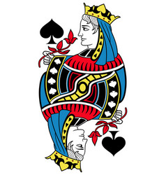 queen of spades isolated french version vector image vector image