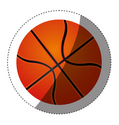 sticker colorful silhouette with basketball ball vector image vector image