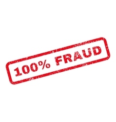 100 Percent Fraud Text Rubber Stamp vector image