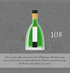absinalcoholic beverage card template vector image