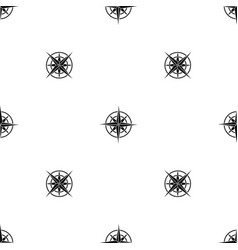 ancient compass pattern seamless black vector image