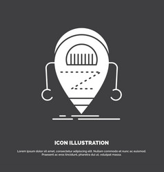 android beta droid robot technology icon glyph vector image