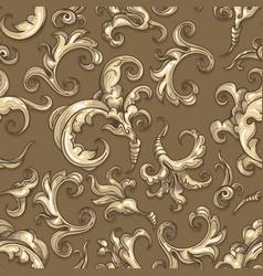 baroque swirl seamless pattern vector image