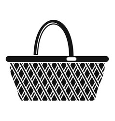 Basketry icon simple style vector