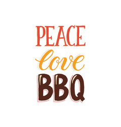 bbq and grill lettering vector image
