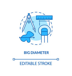 Big diameter concept icon vector
